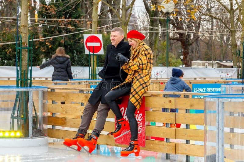 paris Weihnachten lizenzfreies stockfoto