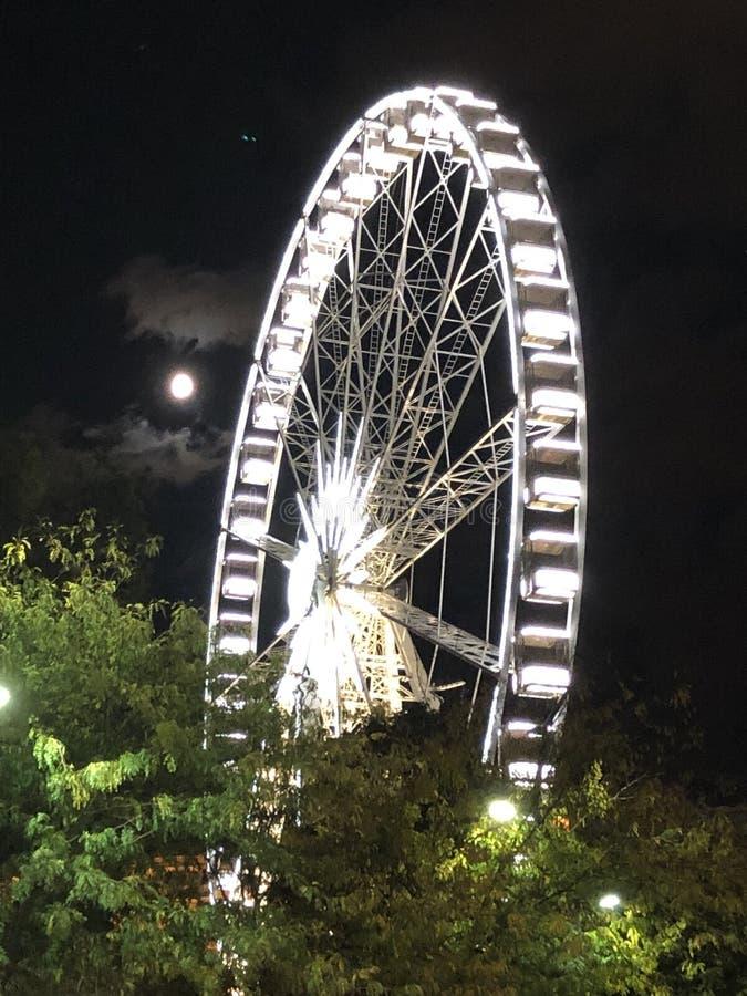 The Paris wheel in Budapest, Hungarn royalty free stock photo