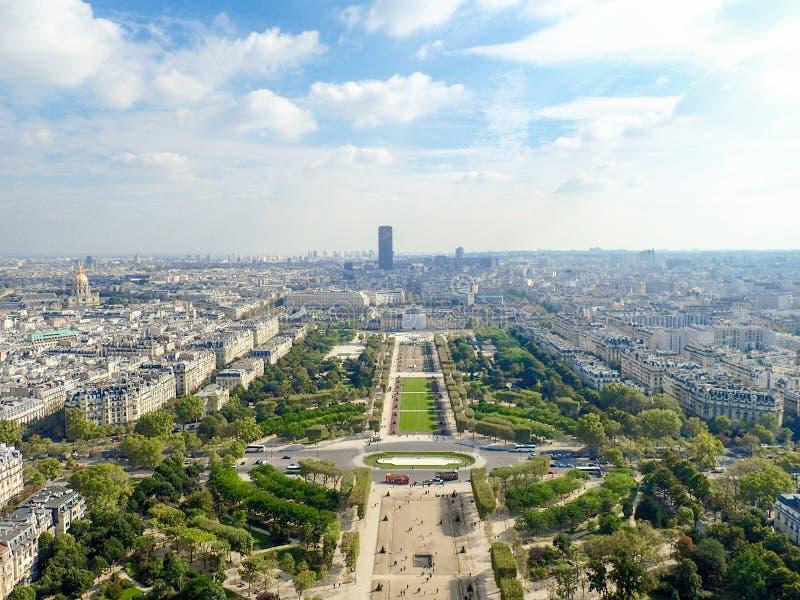 Paris widok lotniczego zdjęcia royalty free
