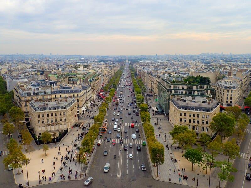 Paris widok lotniczego fotografia stock