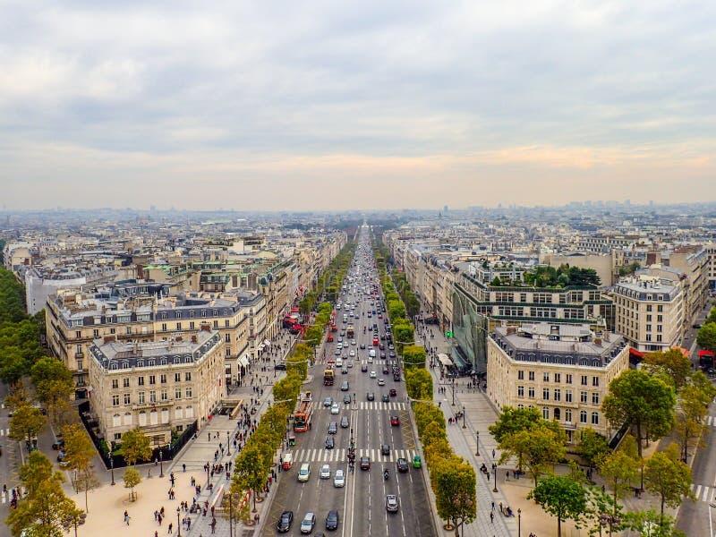 Paris widok lotniczego zdjęcie royalty free
