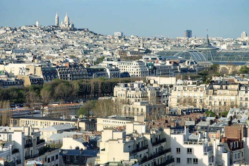 Paris widok lotniczego obraz royalty free