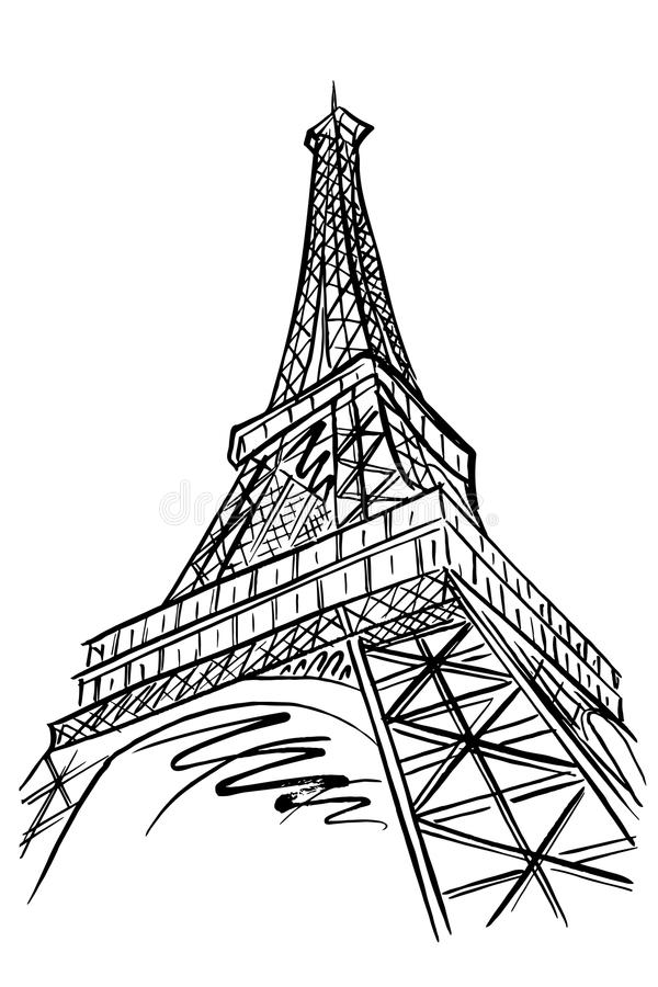 Paris wieżę eiffel France ilustracja wektor