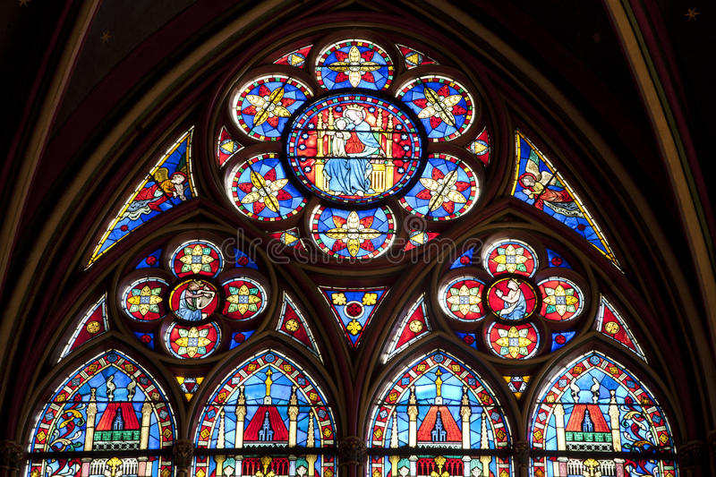 Paris - Windowpane From Notre-Dame Royalty Free Stock Photo
