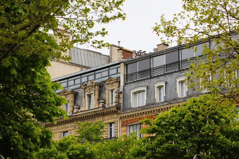Paris Windows stockfotografie