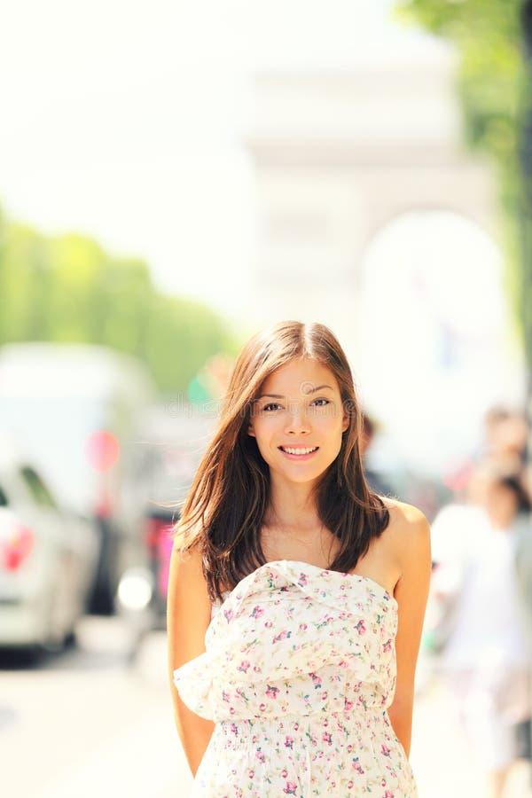 Paris woman stock photo