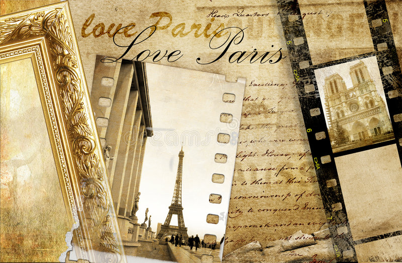 Paris wspomnienia royalty ilustracja