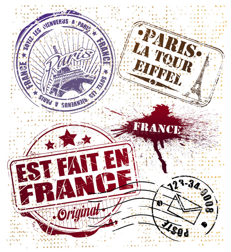 paris znaczek ilustracji