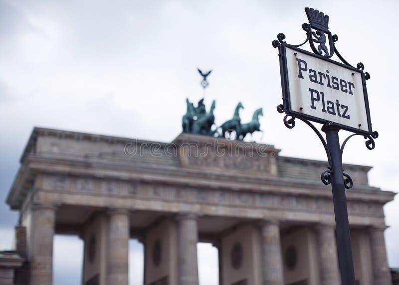 Pariser普拉茨,柏林和勃兰登堡门 免版税库存照片