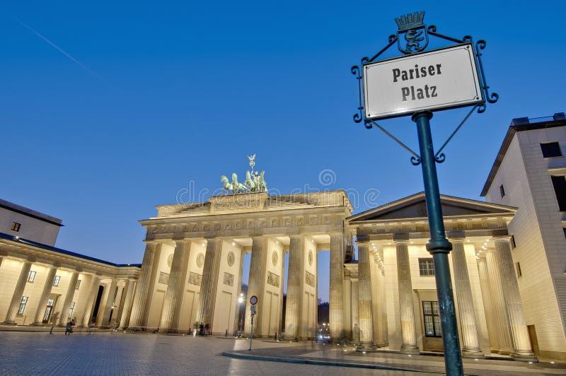 Pariser Platz in Berlijn, Duitsland royalty-vrije stock fotografie
