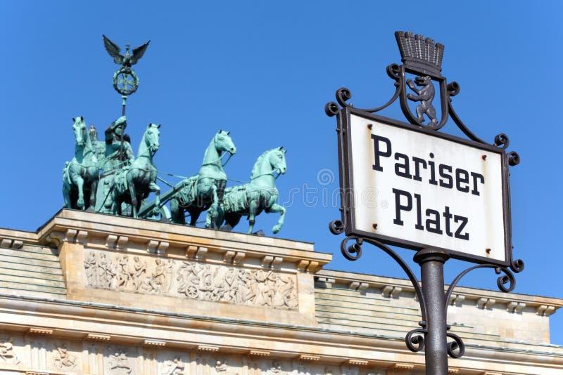 Pariser Platz, de poort van Brandenburg, Berlijn royalty-vrije stock afbeeldingen