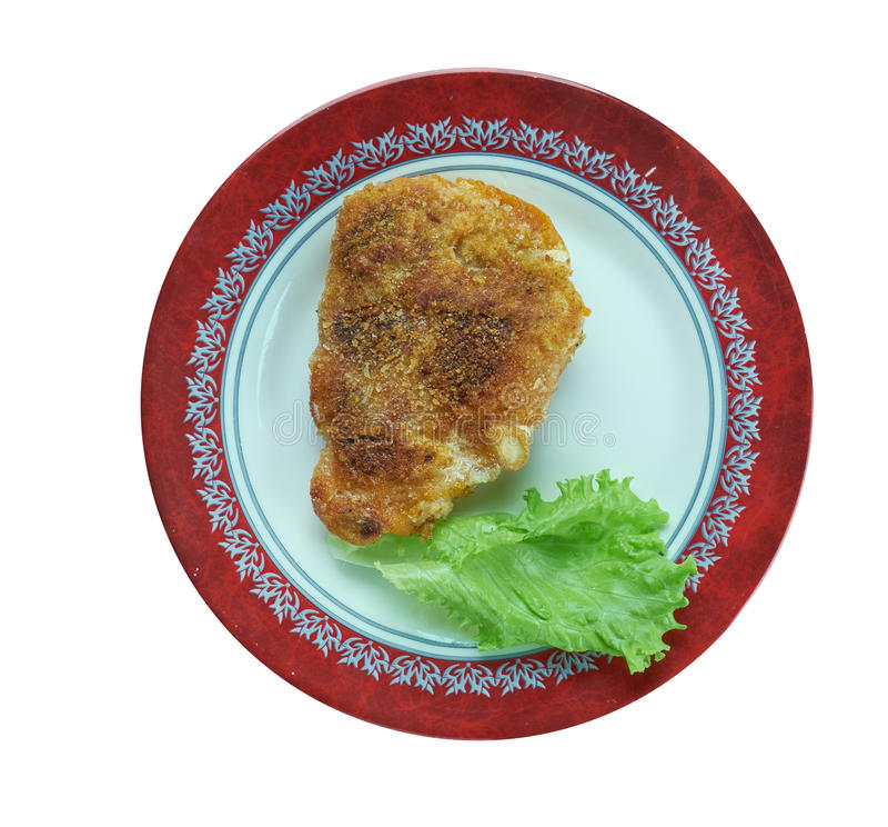 Download Pariser-Schnitzel stockbild. Bild von fischrogen, platte - 90234191