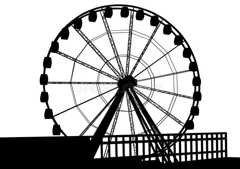 Pariserhjul en stock illustrationer