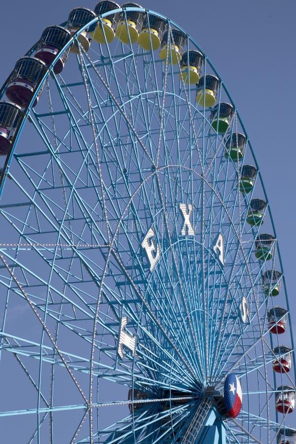 Pariserhjul på den statliga mässan av Texas Dalls royaltyfria bilder