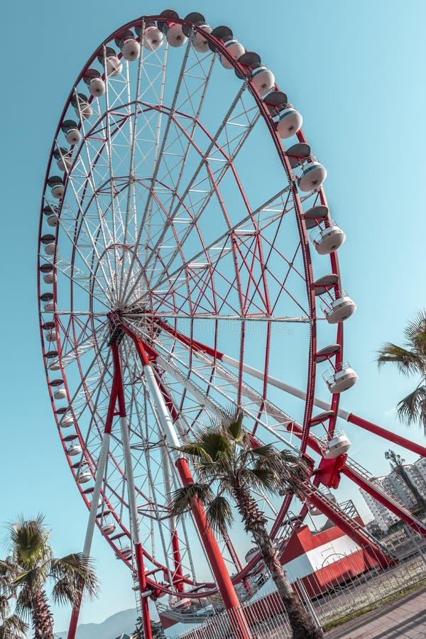 Pariserhjul på en solig sommardag arkivfoto