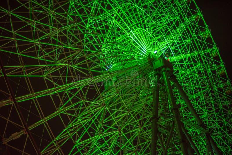 Pariserhjul på natten arkivfoto