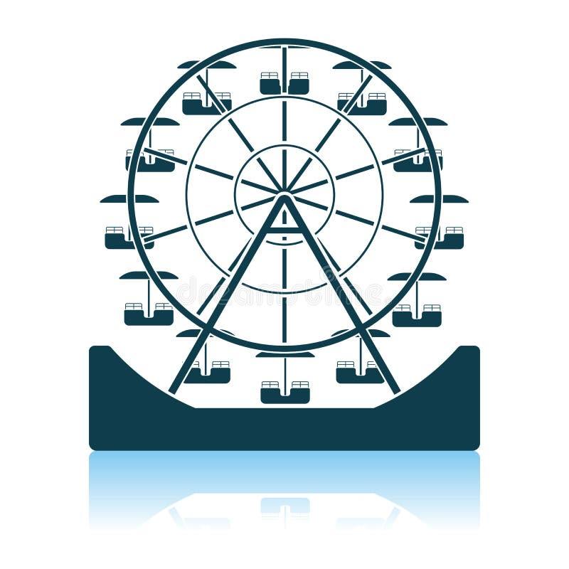 Pariserhjulsymbol royaltyfri illustrationer