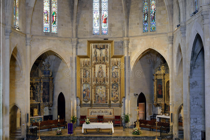 The Parish Church of Arta. The altar of the Parish Church of Arta royalty free stock images