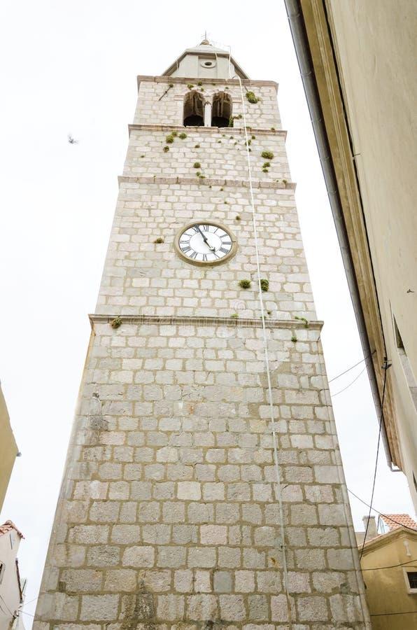 Parish Church of the Assumption of the Blessed Virgin Mary, Vrbnik, Krk, Croatia stock photo