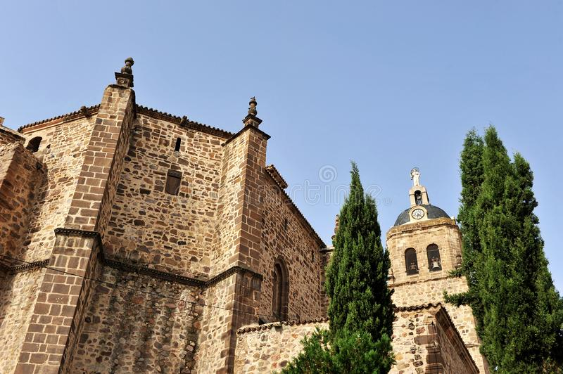 Parish church of Asuncion in Puertollano, Ciudad Real province, Spain. Old church of Our Lady of the Assumption in Puertollano, province of Ciudad Real, Castilla stock photography