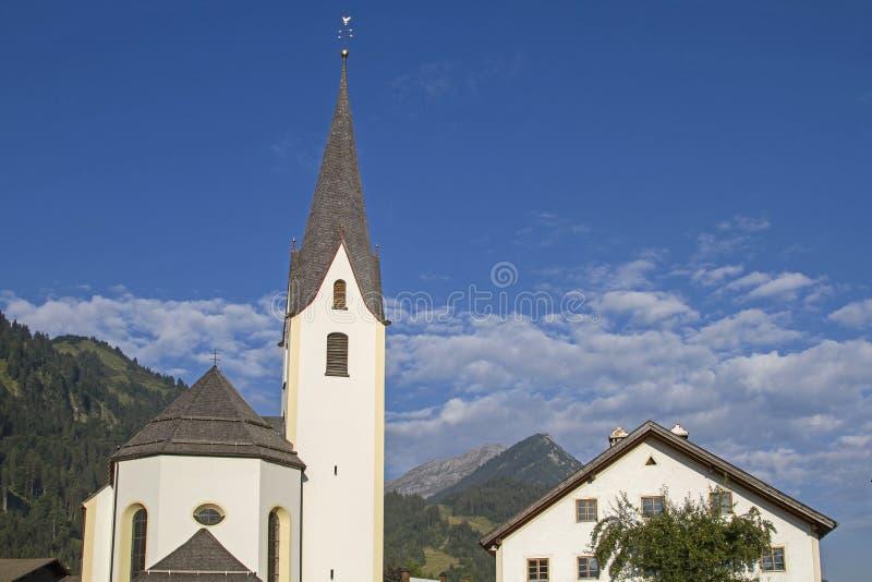 Parish church of Bichlbach stock photos
