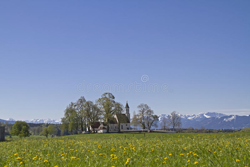 Parish church of Dietramszell royalty free stock images
