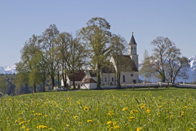 Parish church of Dietramszell stock image