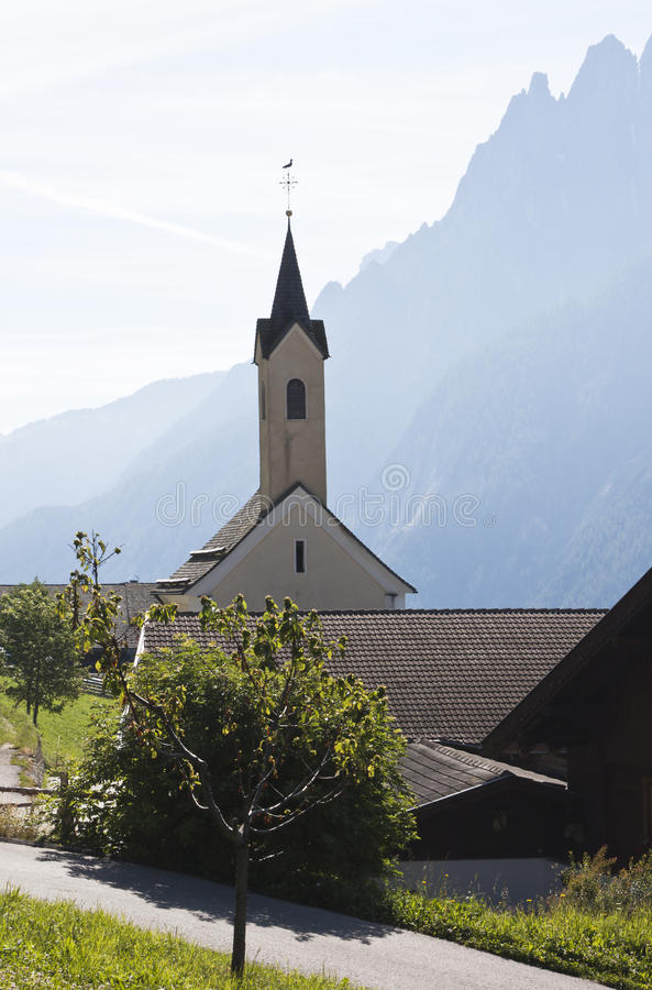 Parish church of Dorfl, Pustertal Valley, Austria royalty free stock images