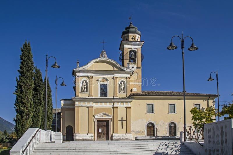 Parish church of Marciaga stock images