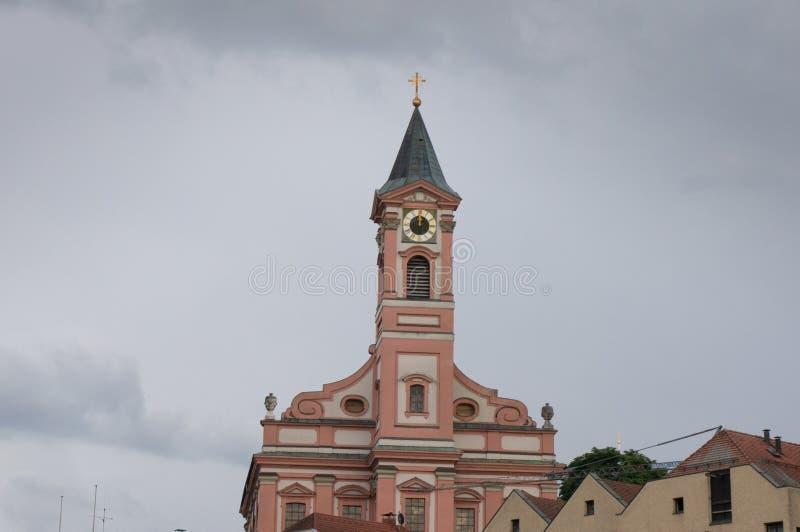 Parish church Saint Paul in Passau stock photo