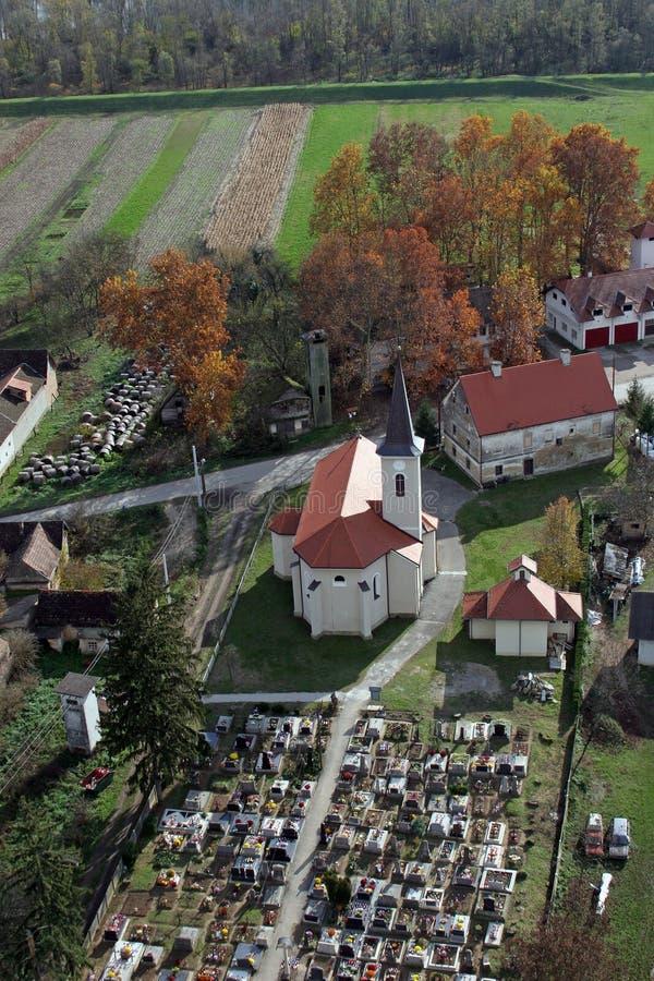 Church of Saint Roch in Kratecko, Croatia. Parish Church of Saint Roch in Kratecko, Croatia stock images