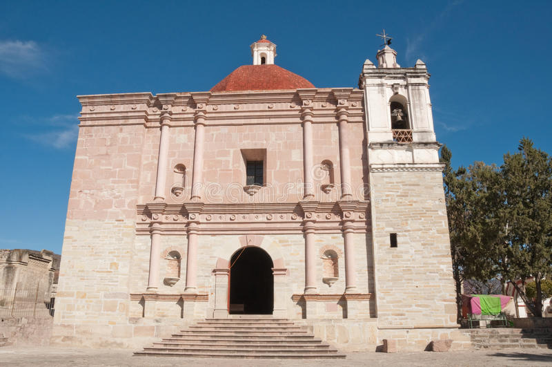 Church of San Pablo, Mitla, Oaxaca (Mexico) stock photo