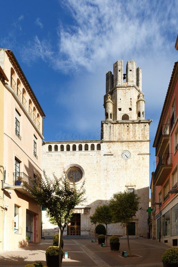 Parish Church of Sant Marti, Spain. Parish Church of Sant Marti in Palafrugell, Spain stock image