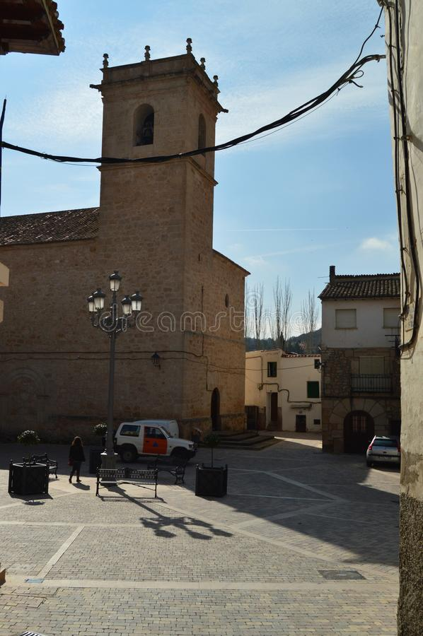 Parish Church of the sixteenth century of Trillo. Arquitecture, Travel, Vacation. Parish Church of the sixteenth century of Trillo. Arquitecture Travel Vacation stock photos