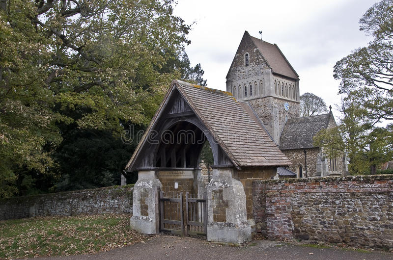 The Parish Church of St Lawrence. In the Norfolk village of Castle Rising royalty free stock photography