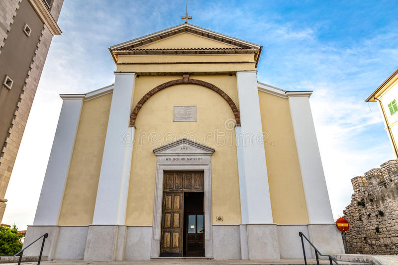 Parish Church of St.Martin-Vrsar,Croatia stock images
