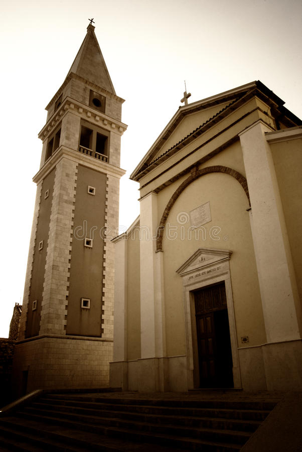Parish Church of St. Martin in Vrsar, Croatia stock images