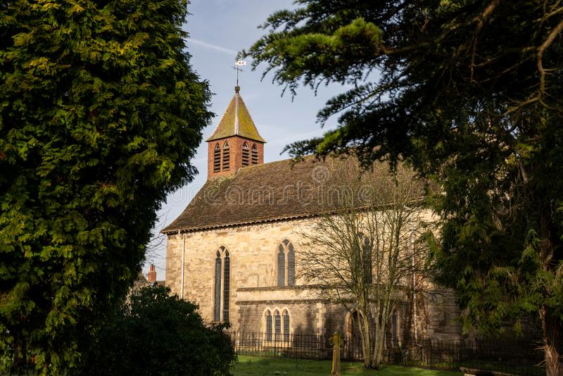 The parish church of St Mary The Virgin in Kingswood, Gloucestershire, United Kingdom. Built in 1723 in the reign of George 1 royalty free stock image