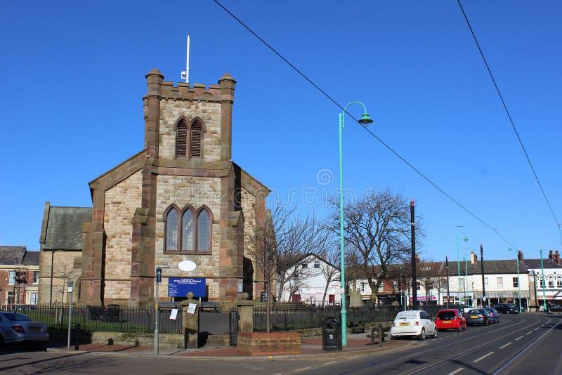 Parish Church of St Peter, Lord Street, Fleetwood stock photography