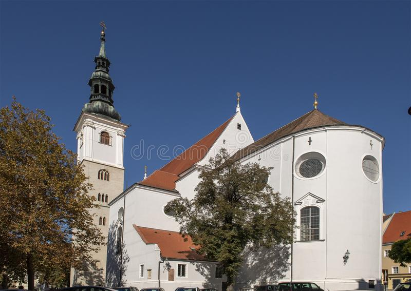 Parish Church of St. Veit in the town of Krems on the Danube, Austria stock photo