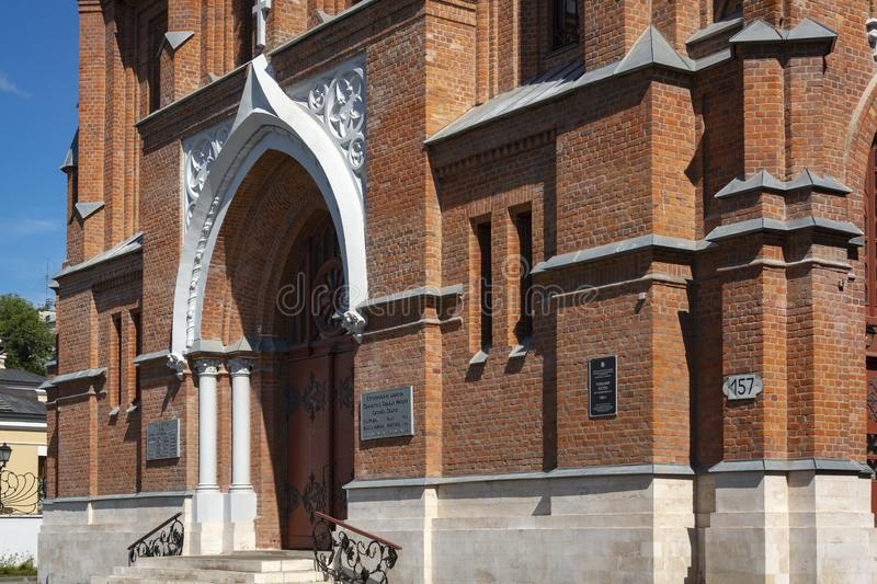 Parish of the Sacred Heart of Jesus of the Roman Catholic Church Polish church was built in 1906 in the historic center of the c. Samara, Russia - August 7, 2018 stock photo