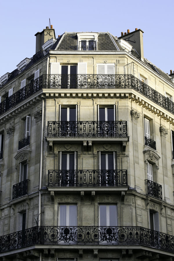 Parisian apartment building royalty free stock photos