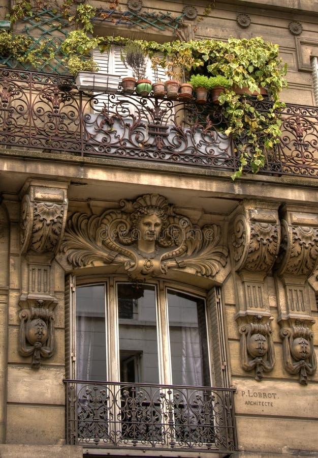 parisian balkong royaltyfri bild