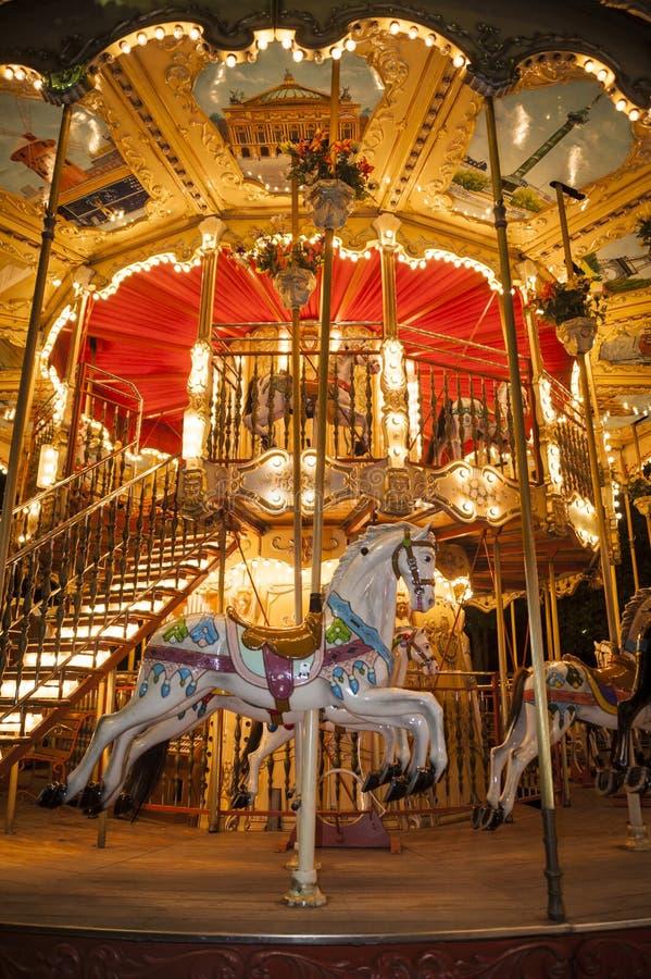 Parisian calliope royalty free stock photo