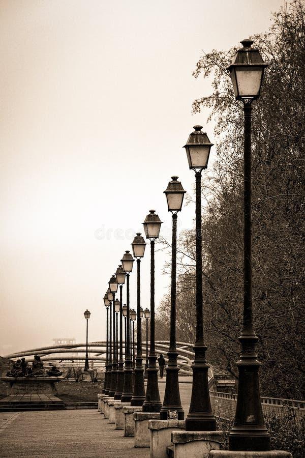 Parisian lamp posts royalty free stock photos