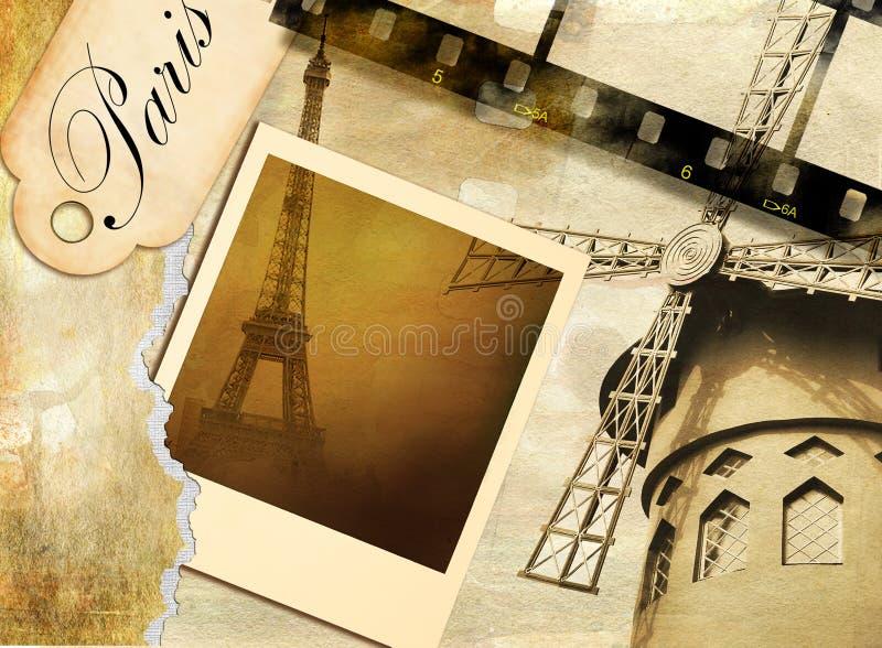 Parisian memories royalty free illustration