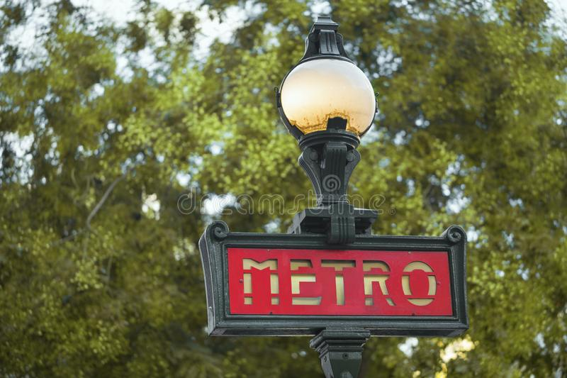 Parisian metro sign royalty free stock image
