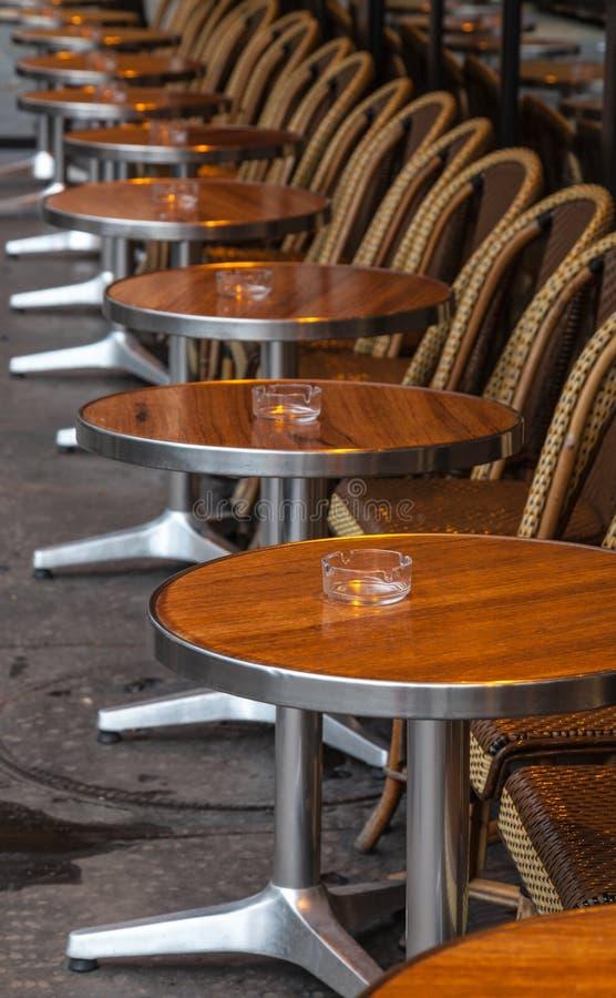 Parisian Street Terrace royalty free stock photography