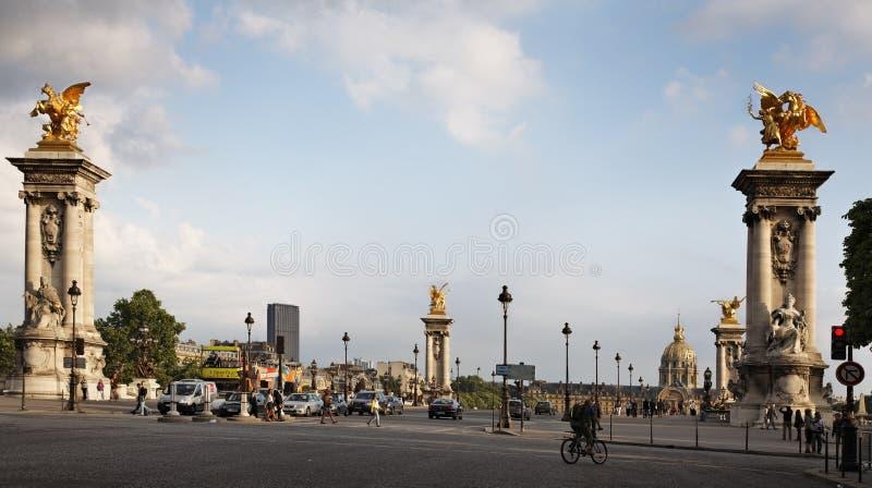 Parisian sunset stock photo