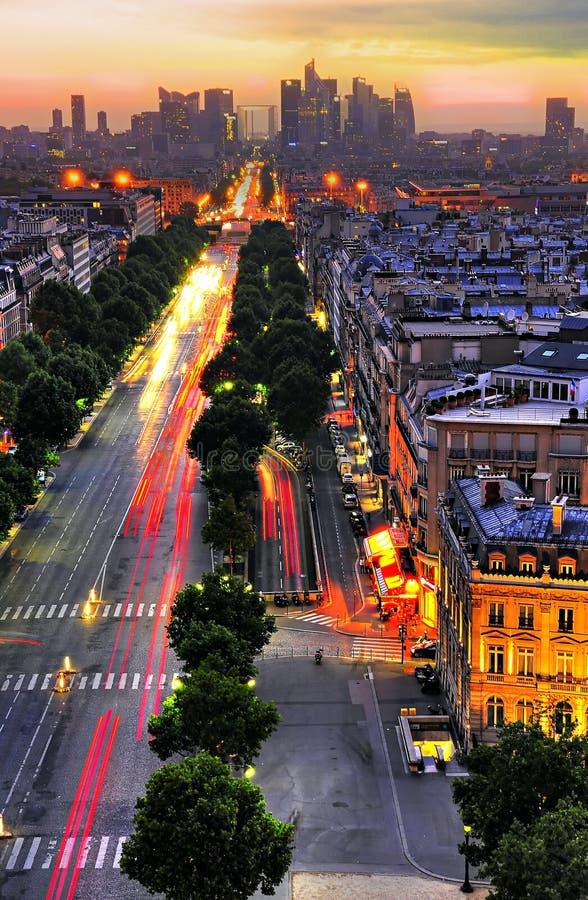 Parisian sunset stock photography